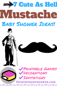 mustache themed baby shower