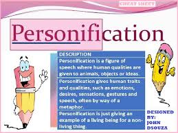 personification handout by john421969 teaching resources tes