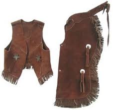 amazon com childrens western vest u0026 chaps set black or brown