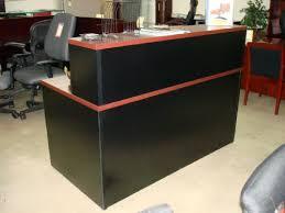 Black Reception Desk Advanced Liquidators Pc 30x60 Reception Desk Mahogany And Black