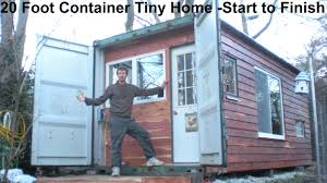 20 foot container tiny home construction from start to finish