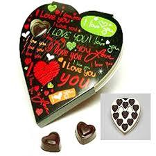 chocolate heart box ghasitaram gifts gifts heart chocolate box 110gm