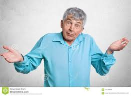 clothing for elderly elderly puzzled with grey hair feels uncertain about something