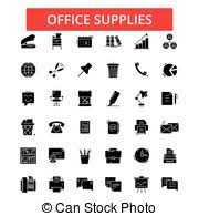 fournitures bureau en ligne fournitures mince icônes bureau resize simple clair