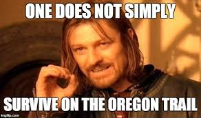 Oregon Trail Meme - he got bitten by a snake rest for 4 days he got measles rest