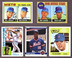 The Doc And Darryl Mets - new york mets 5 card topps rookie reprint lot 2 tug mcgraw tom