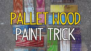 How To Clean Walls For Painting by Diy Pallet Wood Paint Trick Youtube