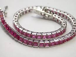 sterling tennis bracelet images 925 sterling silver 18k white gold ruby tennis bracelet jpeg