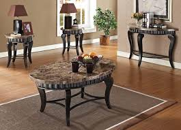Coffee And End Table Sets Galiana Brown Marble Top Coffee End Table Set 80068 Set Coffee