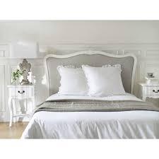 chambre a coucher adulte maison du monde tête de lit en bois massif et coton l 140 cm joséphine maisons du