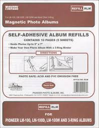 self adhesive photo album refill pages pioneer magnetic photo album refill pages 8 25 x10 5 5 pkg