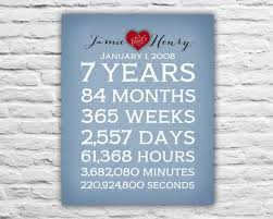 7 year anniversary gift anniversary gift for husband anniversary spouse