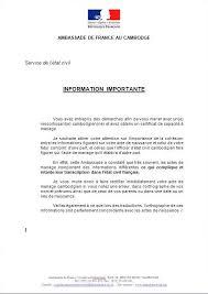 certificat de capacitã de mariage le forum khmer network informations pratiques formalités