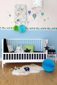 dinki balloon kinderzimmer wandsticker heißluftballons blau grün