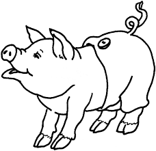 pig coloring animals town free pig color sheet