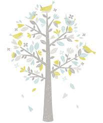 stickers arbre chambre fille sticker chambre d enfant arbre oiseaux bleu et vert