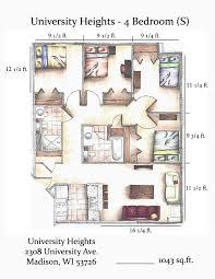 4 bedroom apartments madison wi university heights goldleaf development