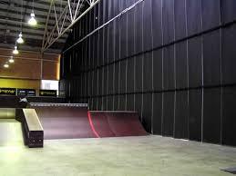 Soundproofing Curtain Soundproofing Curtain From Pyrotek Blocks Skateboard Noise At