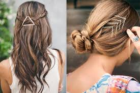 cool hair accessories bobby pins on runway models search hair