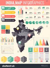 World Map Poster India by India Map Infographic Elements Infographics Layouts Stock Vector