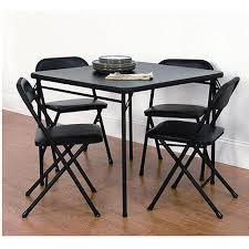 Folding Table And Chair Sets Mainstays 5 Card Table And Chair Set Black Walmart