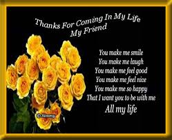 thanks for coming in my free best friends ecards greeting
