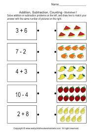 1 Grade Math Worksheets Addition Subtraction Counting Worksheet Számolás Mérés