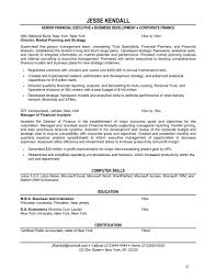 Finance Resumes Examples by 6 Financial Resume Sample Applicationsformat Info