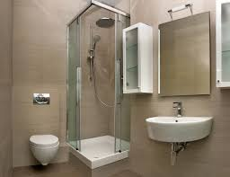Simple Bathroom Ideas by Bathroom Design Open Shower Model Tall Stainless Panel Cream