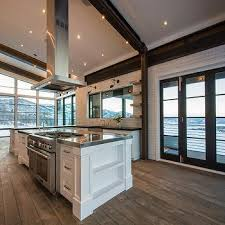 island with freestanding stove design ideas