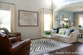Big Living Room Rugs Amanda Carol Interiors