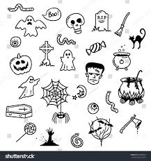 spooky halloween doodles stock vector 325903967 shutterstock