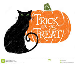 halloween background cat and pumpkin trick or treat cat 2 with pumpkin background stock vector image