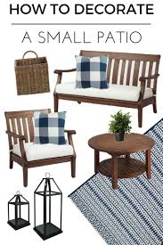 How To Decorate A Patio by How To Decorate A Small Patio You U0027ll Love Inspiration For Moms