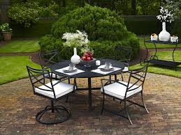 Mesh Patio Table by Meadowcraft Wrought Iron 48 Round Regular Mesh Dining Table Ready