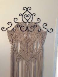 Hippie Home Decor Large Macrame Wall Hanging Home Decor Wall Art Macrame Metal