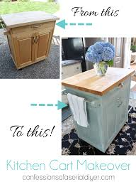 diy kitchen cart rolling kitchen cart makeover confessions of a serial do it