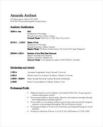 Sample Resume For Assistant Professor by Academic Resume Template 6 Free Word Pdf Document Downloads