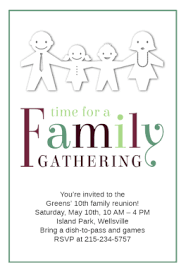 time for a family gathering free family reunion invitation
