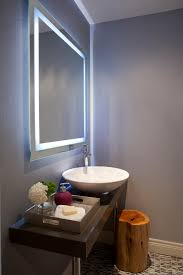 bathroom magnifying mirror with light glamorous lighted vanity mirror in powder room contemporary with
