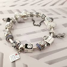 pandora jewelry 50 off 379 pandora charm bracelet blue white sale sku