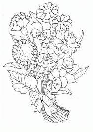 dibujo ramo flores colorear dibujos infantiles ramo