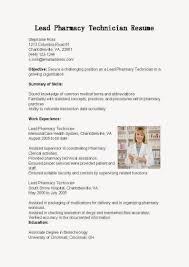 Hospital Pharmacist Resume Sample by Duties Of A Pharmacy Technician Sample Resumes