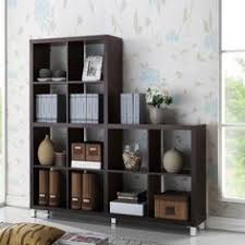 baxton studio lindo bookcase single pull out shelving cabinet baxton studio dark brown wood bookcase shelving cabinet zulily