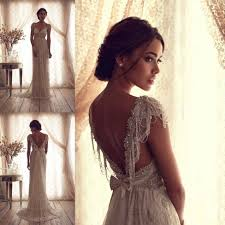 backless lace wedding dresses cbell bridal gown ivory lace v backless wedding dresses