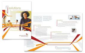 brochure design software software developer brochure template design