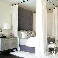 Four Poster Bed Curtains Drapes Teal Drapes Transitional Bedroom Atlanta Homes U0026 Lifestyles