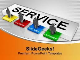customer service concept powerpoint templates slides and graphics