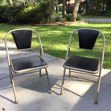 Vintage Outdoor Folding Chairs Find More Vintage Durham Padded Vinyl Folding Chairs Excellent