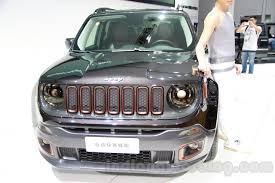 brown jeep renegade jeep wrangler sundancer edition side at 2014 guangzhou auto show